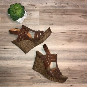 ❗️MIA BROWN SUMMER WEDGES-SZ 9.5 ❗️